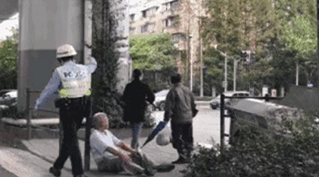6旬老人倒地不起 虹口交警巡逻途中及时救助
