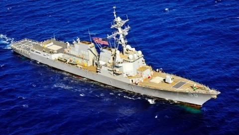 美军舰擅入我西沙领海被中国海军驱离
