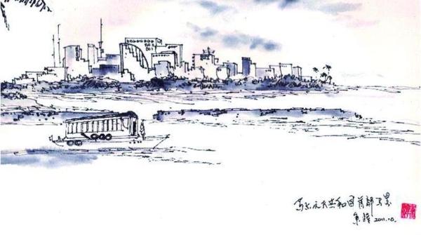 钢笔画世界 | 世界上最小的首都:马累