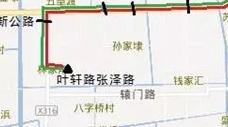 """松江31路下周一起调整走向 终点站改为""""叶轩路张泽路"""""""
