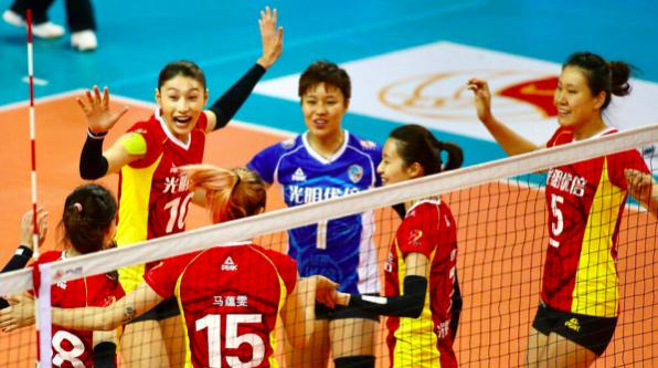 全国排超联赛第六轮 上海女排胜天津取得六连胜