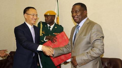 中国政府特使拜会津巴布韦总统 转达习近平主席口信 将继续加强对津合作