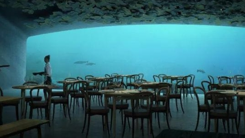 欧洲第一家海底餐厅来了!荣获46项国际大奖的挪威设计团队拿出了绝活