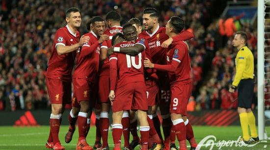小组赛轰入创纪录23球 红军9年后重回欧冠16强