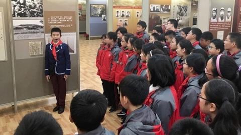 遵义会议精华展搬进上海校园 沪遵两地开展中小学红色文化交流