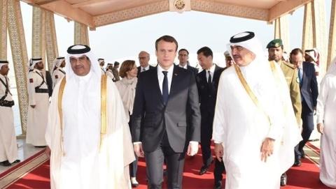 马克龙访问卡塔尔签军售大单
