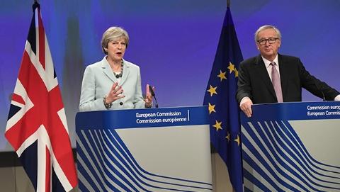 """英国""""脱欧""""谈判已取得""""足够进展"""" 即将开启第二阶段谈判"""