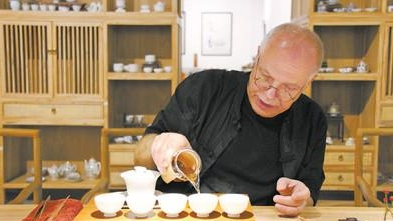 传播中国文化 德国老人的中国茶道