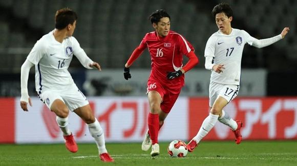 东亚杯男足第二轮:韩国1比0小胜朝鲜