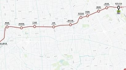 """轨交17号线年底开通试运营  车站风格主打""""水乡""""风情"""