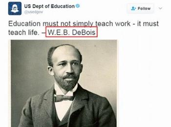 好尴尬啊!美国教育部官微连犯拼写错误