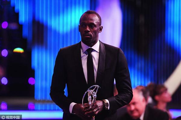 牙买加短跑名将博尔特获得最佳男选手.jpg