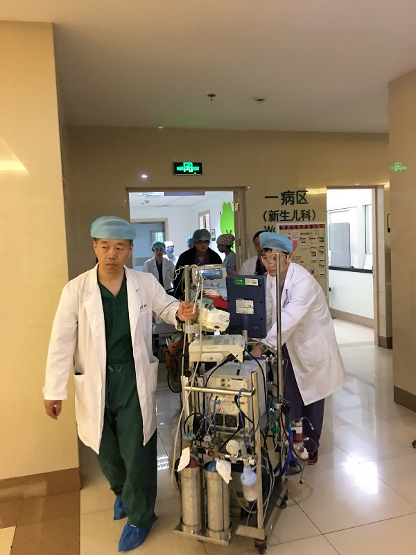 国内日龄最小早产儿体外膜肺转运成功