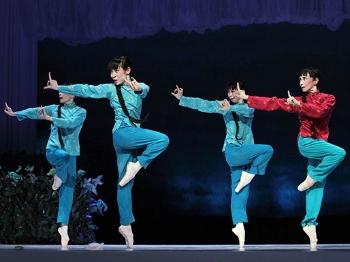 """69岁森下洋子出演""""喜儿 日本松山芭蕾舞团第15次访华演出"""