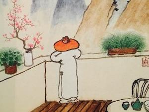 """画中人最初也是有鼻有眼的——本报记者独家专访""""业余绘画爱好者""""老树"""