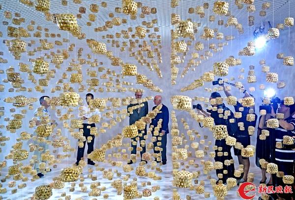 2017上海夏季音乐节艺术装置《夏音》由2400个传统手作的蝈蝈笼子组成,以声音唤醒大家对童年夏天的回忆-郭新洋 摄.jpg