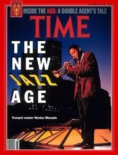 """1990年,美国《时代》周刊把温顿·马萨利斯放上了封面,宣称""""一个新的爵士时代即将来临"""".jpg"""