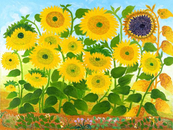 梵高奶奶 她画的向日葵究竟好不好