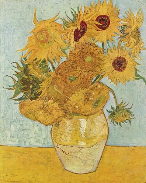 梵高奶奶 画的向日葵究竟好不好