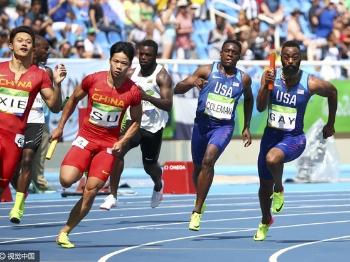 厉害了!中国男子4*100米力压美国队夺冠