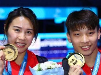 夺了8金细抠金牌成色 中国跳水队领队周继红谈队员表现