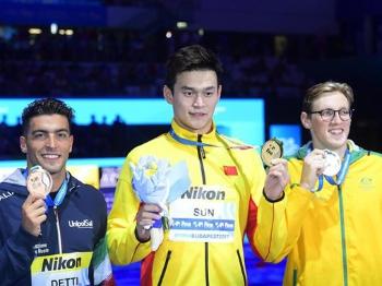 实力说话!孙杨400米自由泳加冕三连冠