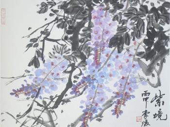 """李俊书画展举办 """"紫气东来大江风""""拜谒吴昌硕"""