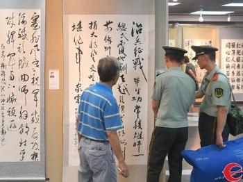 建军90周年美术作品展开幕:90幅画作展90年建军史