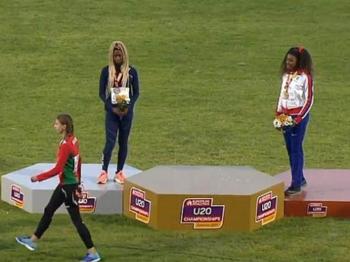 【照片里的故事】放错国歌!白俄罗斯选手走下领奖台