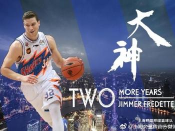 """""""寂寞大神""""这次和上海男篮续约了两个赛季!"""