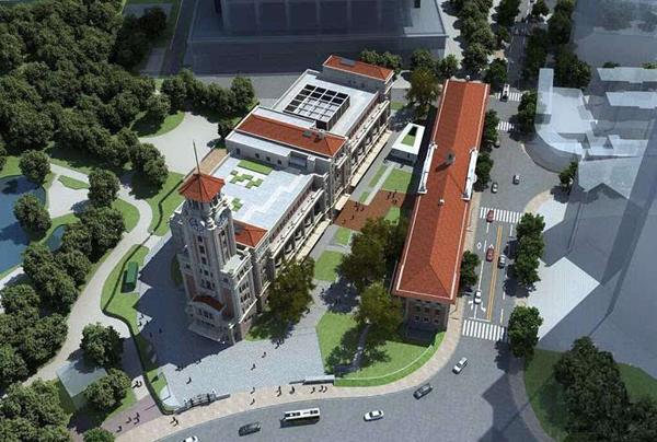 图说:上海历史博物馆俯视效果图 网络图