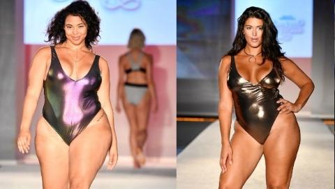 超重模特走猫步秀泳装 另类美还是错误示范?