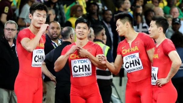 意外不断!中国4*100米接力队遗憾错失奖牌