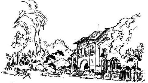 钢笔画世界|布加勒斯特的广场