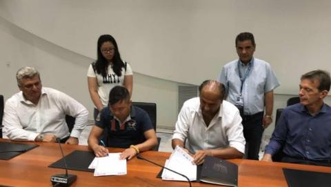 希腊侨界与顶级体育俱乐部签订合作协议