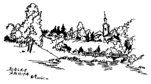 钢笔画世界 | 斯洛文尼亚波斯托伊那风光