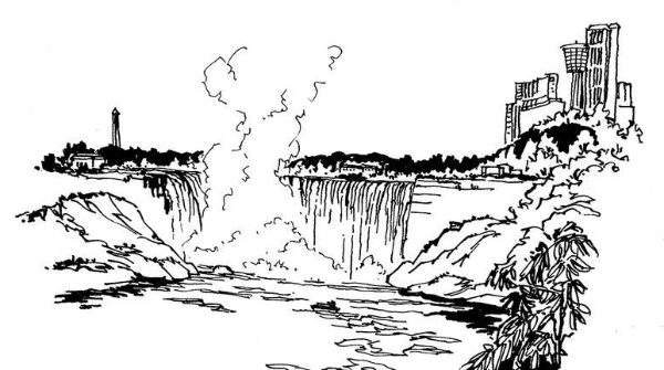 钢笔画世界 | 尼亚加拉大瀑布