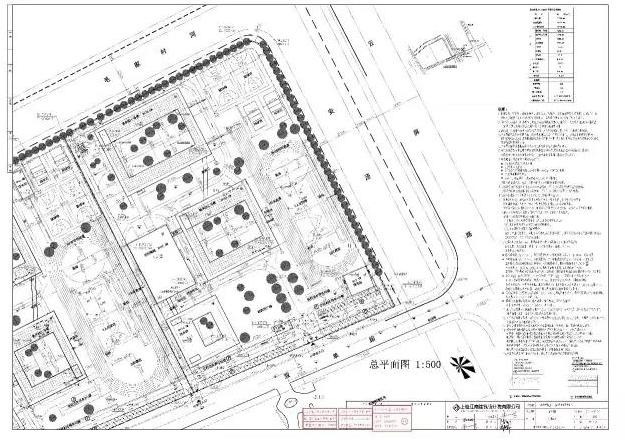 嘉定新城e14-6地块小学总平面图