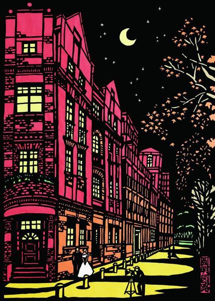 来来来,看看海派纸雕圆明园路的温柔夜色
