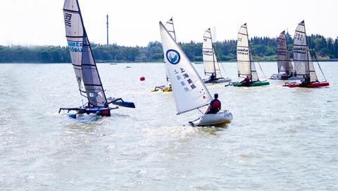 青浦:帆船联赛邂逅公园派对 掀起亲水乐潮