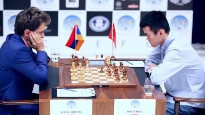 """国际象棋世界杯:丁立人阿罗尼扬第三次""""握手言和"""""""