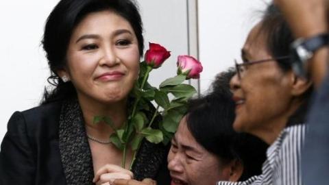 """泰国""""大米渎职案""""今宣判 前总理英拉被判刑5年"""
