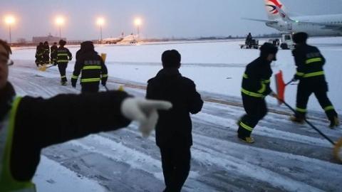 降雪致全国9家机场航班大面积延误 东航今取消154班