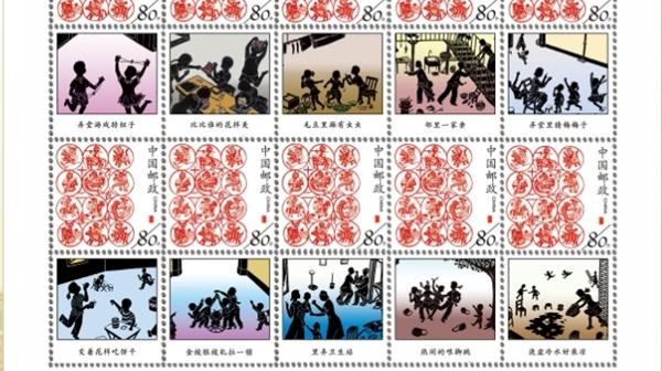 在李建国的系列剪影邮品中,一起兜兜上海老弄堂……