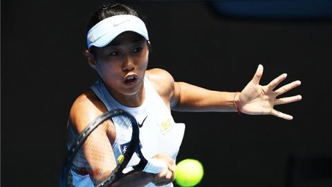 中国金花张帅逆转新科美网冠军,晋级澳网第二轮