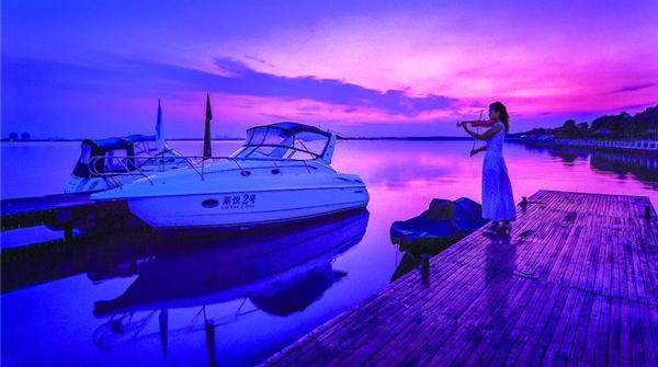 气夕会·摄影 | 太阳湖畔摄晚霞