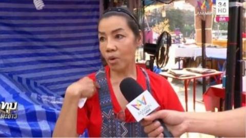 """泰国女子夜市遭""""宰"""" 老板娘:以为是中国人"""