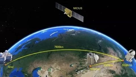 """北京遇上维也纳,""""墨子号""""量子卫星实现洲际量子保密通信"""