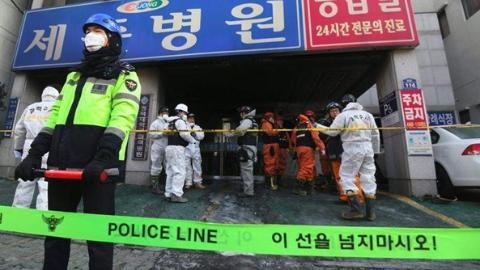韩国世宗医院大火恐由电路问题引发