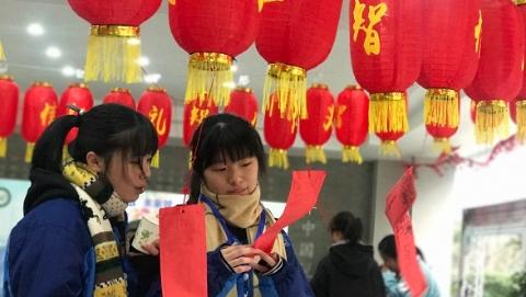 放寒假啦!中国中学里的这场传统文化游园会真热闹